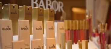 Babor is het merk waar men mee werkt in de wellness. Heerlijk.